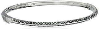 Fossil Oval Pave Silver Bangle Bracelet