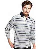 Blue Harbour Pure Cotton Slim Fit Multi-Striped Rugby Shirt