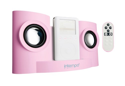 Intempo IDS-01R - iPod Speaker Dock With Remote Control - Pink