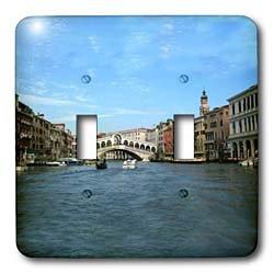 Vacation Spots - The Rialto Bridge Venezia Italy - Light Switch Covers - double toggle switch