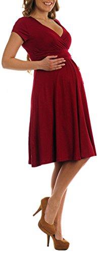 Women's Wrap V-neck Flare Summer Dress Short Sleeves