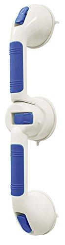 Aidapt - Maniglia ergonomica con doppio punto di fissaggio a parete, a ventosa, affidabile e robusta