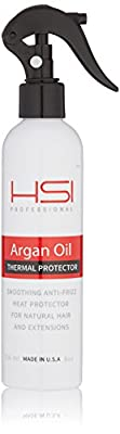 Hsi Professional #1 Thermal Protector 450 With Argan Oil For Flat Iron, Infused With Vitamins A,b,c & D. Creates Silky, Smooth And Healthy Hair. Sulfate Free. Made In Usa. No More Split Ends
