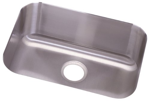Elkay DXUH2115 Dayton 23-1/2-Inch by 18-1/4-Inch Stainless Steel Single Bowl Undermount Kitchen Sink, Satin Finish