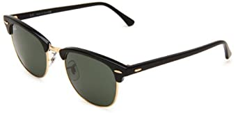 Ray-Ban 0RB3016 Square Sunglasses,Ebony & Arista Frame/Green Lens,One Size