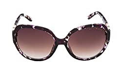 Vintage Elements Non Polarized Women's Sunglass Purple Frame & Brown Shaded Lens