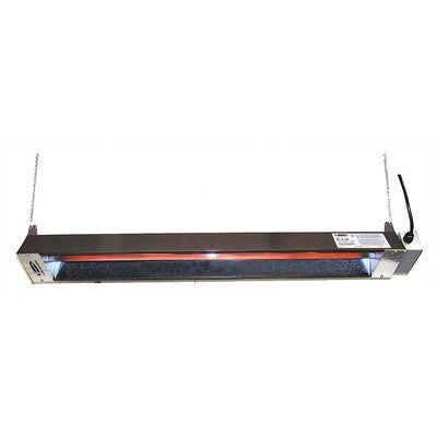 Quartz Tube Electric Patio Heater Volts: 277V, Finish: Stainless Steel front-399151