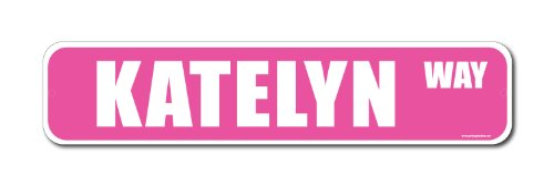 Katelyn Pink Street Sign-Personalized Novelty Gift - 1