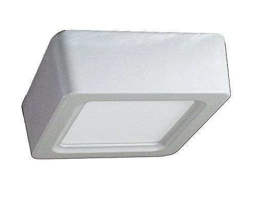 4801 8 W LED Panel Aufbauleuchte Glas - Eckig - 4500 Kelvin naturweisses Licht 720 Lumen VT-1408SQ