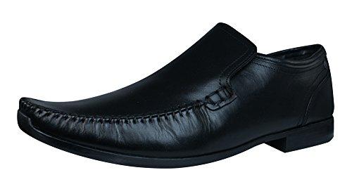 base-london-acrobat-hombres-zapatos-de-cuero-holgazanes-black-42
