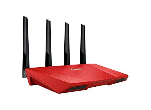 Asus RT-AC87U Gigabit Router, Wireless AC2400 Rosso