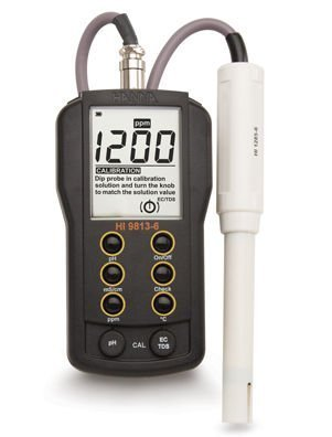 HANNA Instruments HI9813-6 Portable pH-EC-TDS-Temperature Meter with CAL CHECK Feature by Hanna Instruments