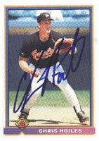 Chris Hoiles Baltimore Orioles 1991 Bowman Autographed Hand Signed Trading Card. by Hall of Fame Memorabilia