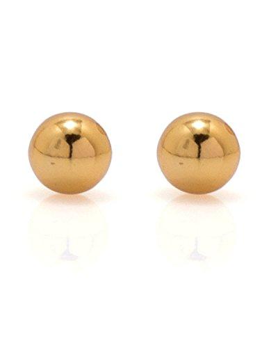64 Off On Earrings Men Boys Studs Gold Round Ball Design Piercing