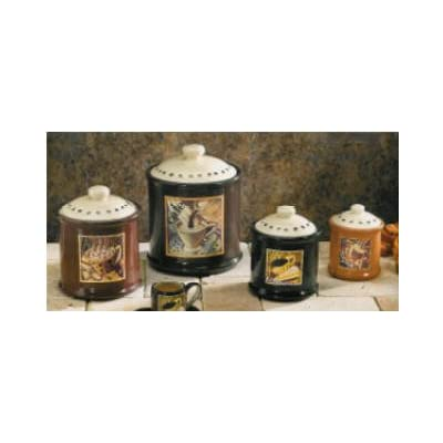 coffee canister set home kitchen decor