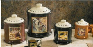 BUYENTER.com: Kitchen: Coffee Canister Set Home Kitchen Decor