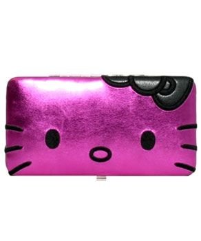 Hello Kitty Hot Pink Hinge Wallet