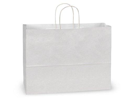 White Kraft Shopping Bags - Vogue White Kraft Paper Bags Mini Pk 16x6x12-1/2