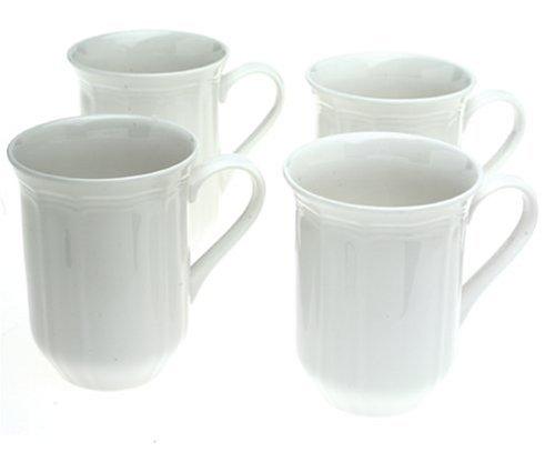 Mikasa Antique White Coffee Mugs Set of 4B0000CFP7C : image