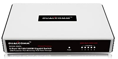 Dualcomm DCGS-2005L 10/100/1000Base-T Gigabit Network TAP (Plastic Case)