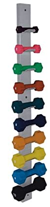Dumbbell Wall Rack, Holds 10 Small (1…
