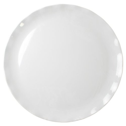 "16"" White Melamine Round Serving Platter / Tray Break-Resistant *Nsf Approved*"