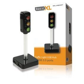 basicXL 3 Ports Traffic Light USB Hub