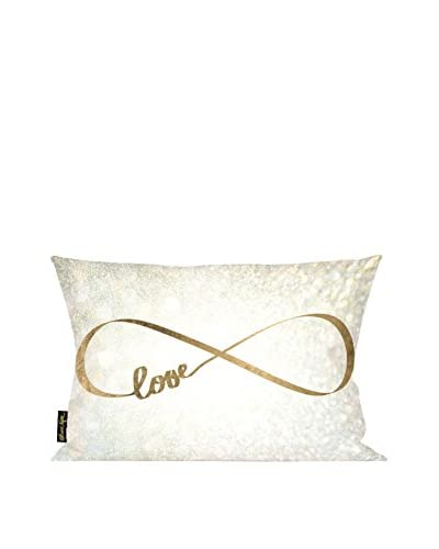 Oliver Gal Sparkle Love Lumbar Pillow, Multi