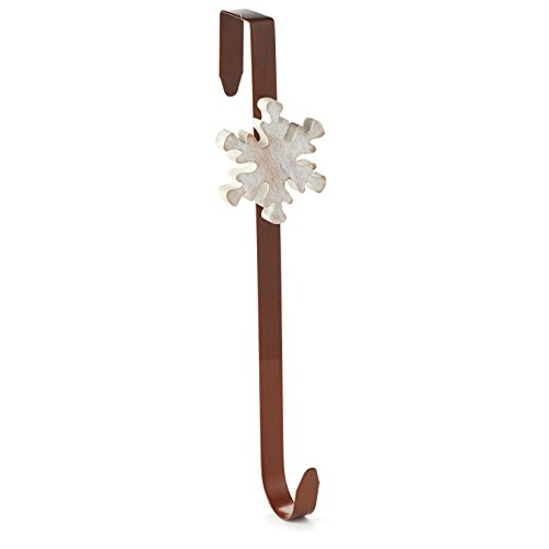 Hallmark Holiday Home Decor: Wood/Metal Snowflake Wreath RNUM-Inch Hanger