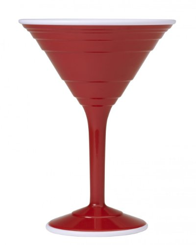 Red Cup Living Reusable Cocktail Cup, 12-Ounce, Red