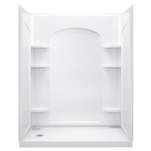 Sterling 72175100-0 Ensemble 1-1/4-Inch x 30-Inch x 72-1/2-Inch Tongue and Groove Shower Endwall in White, 2-Piece (Shower Unit compare prices)