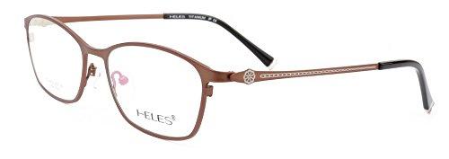 Heles Women New 100% Pure Tianium Full Rim Glasses Optical Frame, Prescription Eyeglasses Frames, Black 53/16/138 (Spectacles Frame compare prices)