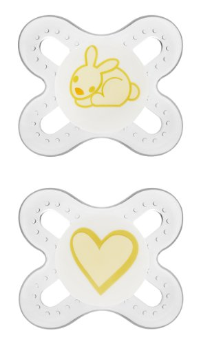 MAM Newborn Start Orthodontic Pacifier, Unisex, 0+ Months, 2-Count