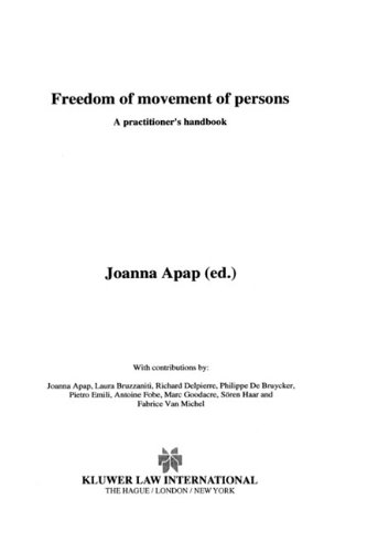 Freedom of Movement of Persons, A Practitioner's Handbook