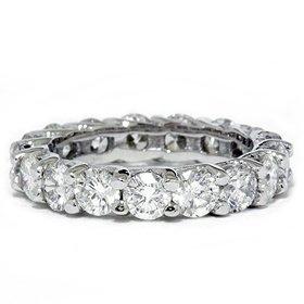 3.00CT Trellis Diamond Eternity Ring 14K White