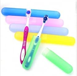 5pcs Translucent Colorful Plastic Toothbrush Cases, toothbrush holder, toothbrush cover for Travelling (Assorted Colors)