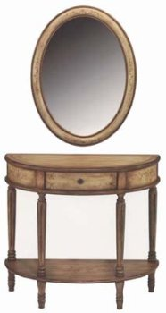 Image of Dayton Oval Mirror for Half-round Console Table (B0006TYBM8)