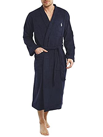 Polo Ralph Lauren - Bleu Shawl Collar Robe - Homme - Taille: L/XL