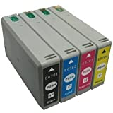 MPC Direct 676XL Four Color Set - Compatible for Epson (Black) T676XL120, (Cyan) T676XL220, (Magenta) T676XL320, (Yellow) T676XL420