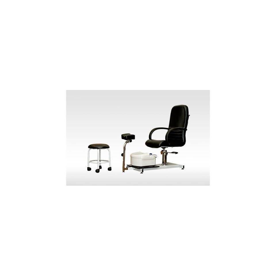 New Pedicure Station Chair Foot Spa Salon Unit W/ Stool