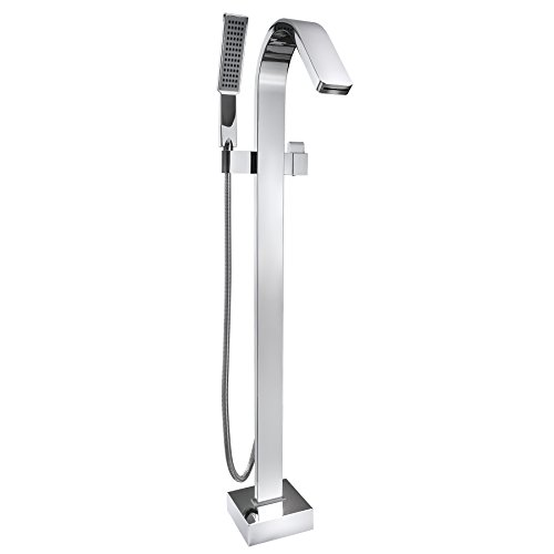 AKDY-38-Brass-Chrome-Finish-Floor-Mount-Freestanding-Handheld-Wand-Bathtub-Faucet-Filler