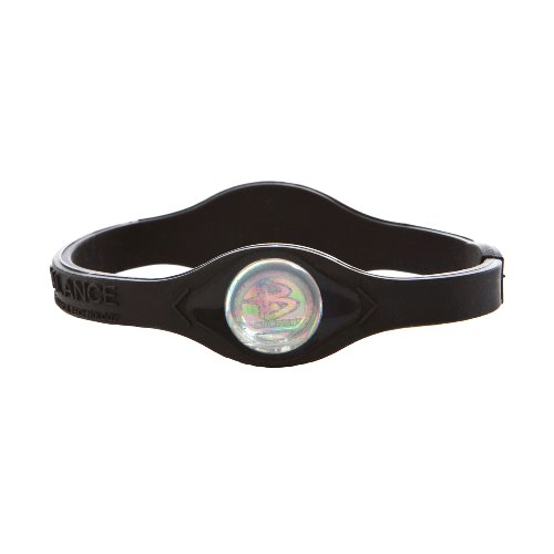 Power Balance Bracelet Black/White Letters size: MEDIUM