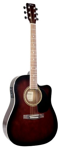 Johnson Jg-620-Cer 620 Player Series Cutaway Acoustic Electric Guitar, Redburst