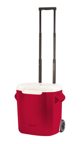 Coleman 28-Qt Wheeled Cooler, Red