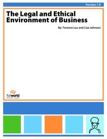 Large book cover: The Legal and Ethical Environment of Business