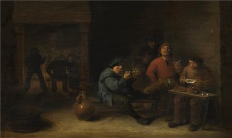 Perfect Effect Canvas ,the Vivid Art Decorative Prints On Canvas Of Oil Painting 'Toegeschreven Aan Adriaen Brouwer,Smokers,1633', 24x40 Inch / 61x102 Cm Is Best For Study Artwork And Home Artwork And Gifts (Redline Smoker compare prices)