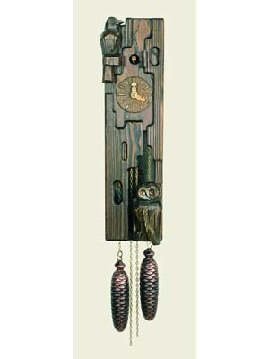 Log Type Wall Cuckoo Clock Made of Wood 20 Inch