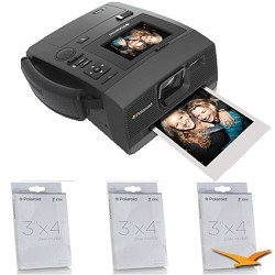 Polaroid Z340 Instant Digital Camera with ZINK Zero Ink Printing Technology with POLZ2X330 M230 Premium 3x4
