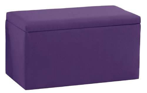 Smarty pants kid 39 s storage bench by skyline furniture in grape purple cotton ottomans ottomans Purple storage bench