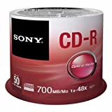 Sony 50CDQ80SP - SONY 50PK CD-R 80Min 700MB 48x Spindle